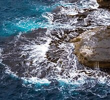 Waves on Rock Platform, Eaglehawk Neck, Tasmania by Chris Cobern