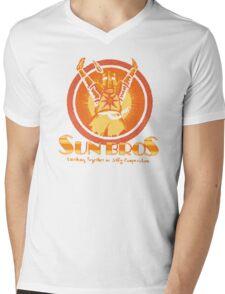 Sun Bros Mens V-Neck T-Shirt