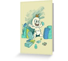 Babyzilla's Path of Destruction Greeting Card