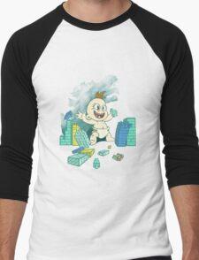 Babyzilla's Path of Destruction Men's Baseball ¾ T-Shirt