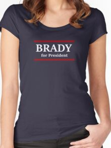 Brady for President Women's Fitted Scoop T-Shirt