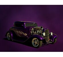 """1932 """"Very Purple"""" Ford Coupe Photographic Print"""