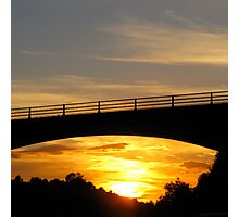 Sunset Bridge Photographic Print