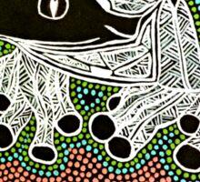 Aboriginal Frog II Sticker