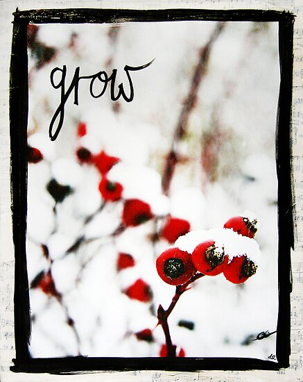 Grow Berries mixed media version 2 by DanielleQ