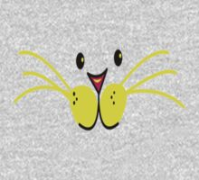 cat face with lotsa big whiskers Kids Tee