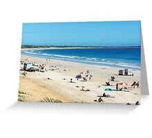 Soaking up the sun on Cable Beach Greeting Card