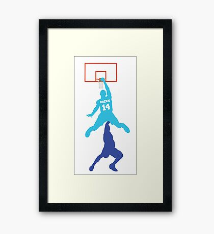 Danny Green Dunk Framed Print