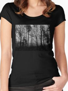 In the deep, dark night Women's Fitted Scoop T-Shirt