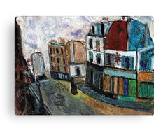 City Square(after Utrillo) Canvas Print