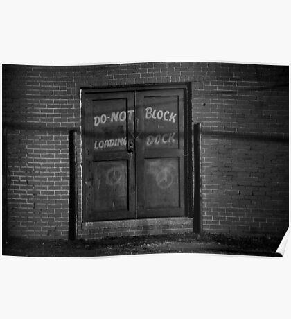 """""""Loading Dock"""" - West Memphis, Arkansas Poster"""