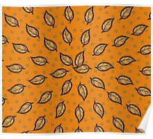 Pattern with autumn leaf Poster