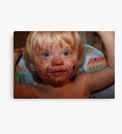 Boy, That Cookie Was Good!! Canvas Print
