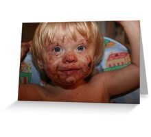 Boy, That Cookie Was Good!! Greeting Card