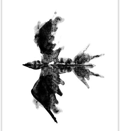 Inkblot bird Sticker