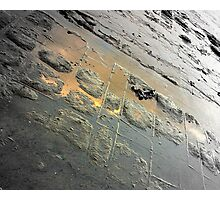 Golden Reflection on the Tessellated Pavement , Pentax K200D Photographic Print