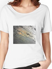 Golden Reflection on the Tessellated Pavement , Pentax K200D Women's Relaxed Fit T-Shirt
