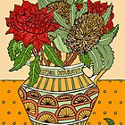 Banksias and Waratahs in a jug by genevievem