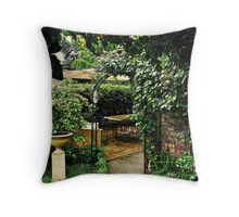Garden Rooms Throw Pillow