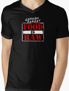 "Gordon Ramsay ""Food Is Raw"" Mens V-Neck T-Shirt"