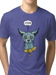 Lying cat Tri-blend T-Shirt