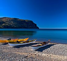 Kayaking Old Woman Bay Lake Superior Ontario Canada by Eros Fiacconi (Sooboy)