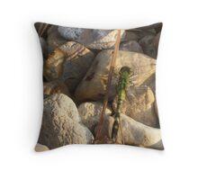 Green Dragonfly Throw Pillow
