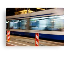 Night Trolley Canvas Print