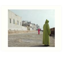 women strolling on the city walls Art Print
