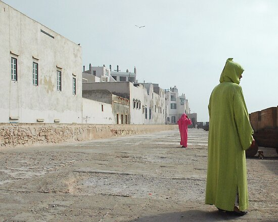 women strolling on the city walls by Valentina Silva