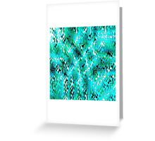 Puzzled (seagreen) Greeting Card