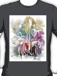 brunch of abstract stylized flowers illustration  T-Shirt
