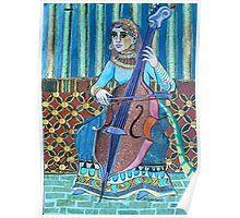 Egyptian Cellist Poster
