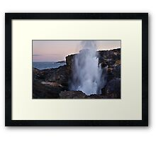 Kiama Blowhole Framed Print