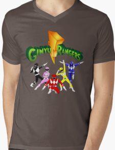 Mighty Morhpin Ginyu Rangers Mens V-Neck T-Shirt