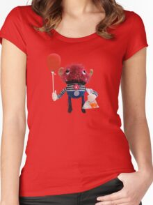 Monster, Red Balloon Women's Fitted Scoop T-Shirt