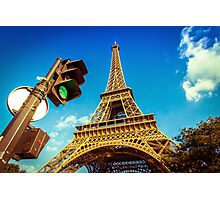 Eiffel Tower in the Modern World Photographic Print