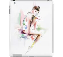 fine young ballerina sitting  iPad Case/Skin