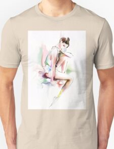 fine young ballerina sitting  T-Shirt