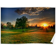Sunset at the Park  Poster
