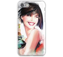 fashion woman with bottle of perfume  iPhone Case/Skin