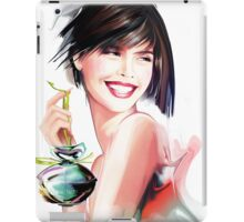 fashion woman with bottle of perfume  iPad Case/Skin