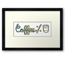 Coffee% Framed Print