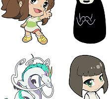 Spirited Away - Sticker Sheet Collection by 57MEDIA