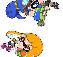 Splatoon - Inkling Boy and Inkling Girl Sticker Collection by 57MEDIA