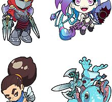 League of Legends Sticker Sheet Collection #4 by 57MEDIA