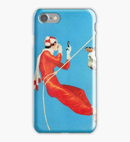 Humorous mountain climbing couple playful fashion art iPhone Case/Skin