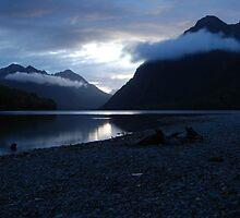 Dusk on the Milford Road, South Island, New Zealand by danjc7