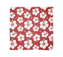 Hibiscus Flower (Red and White) Scarf