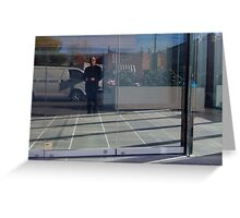 Self Portrait - in the Street Greeting Card